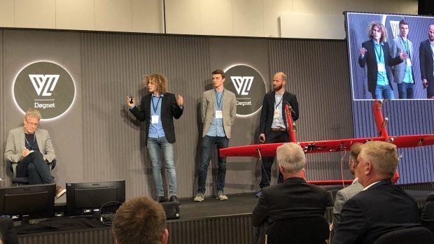 KiteX pitchede deres drone-vindenergi for løverne. Foto: Helena Christensen