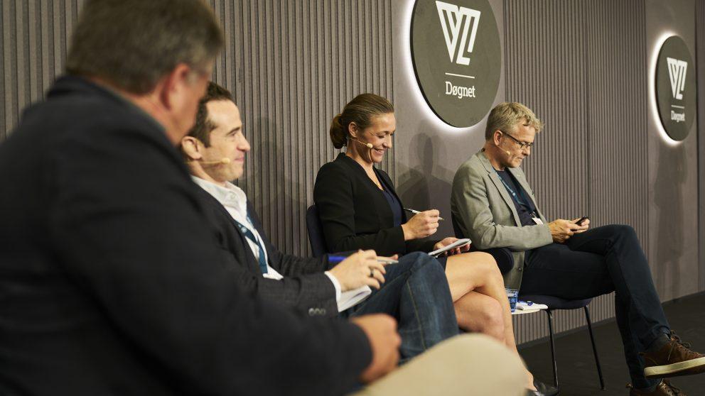 CEO hos Nordic Eye Venture Capital Peter Warnøe, CEO fra Freeway Group, Mia Wagner, den udenlandske gæst Jared Heyman, som er CEO og founder af CrowdMed og serieentreprenør og investor Jan Dal Lehrmann.