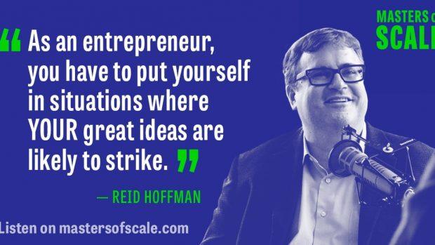 Reid Hoffman, som er en af grundlæggerne af LinkedIn, er vært på podcasten Master of Scale. Foto: Master og Scale.