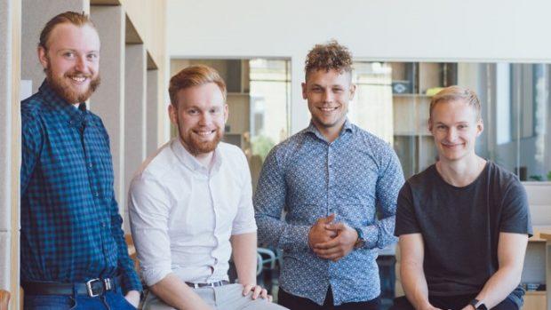Holdet bag Make Influence. Jesper Madsen, Rasmus Bruus Larsen, Kasper Bondegaard og Frederik Kiel Jespersen. Foto: Make Influence.