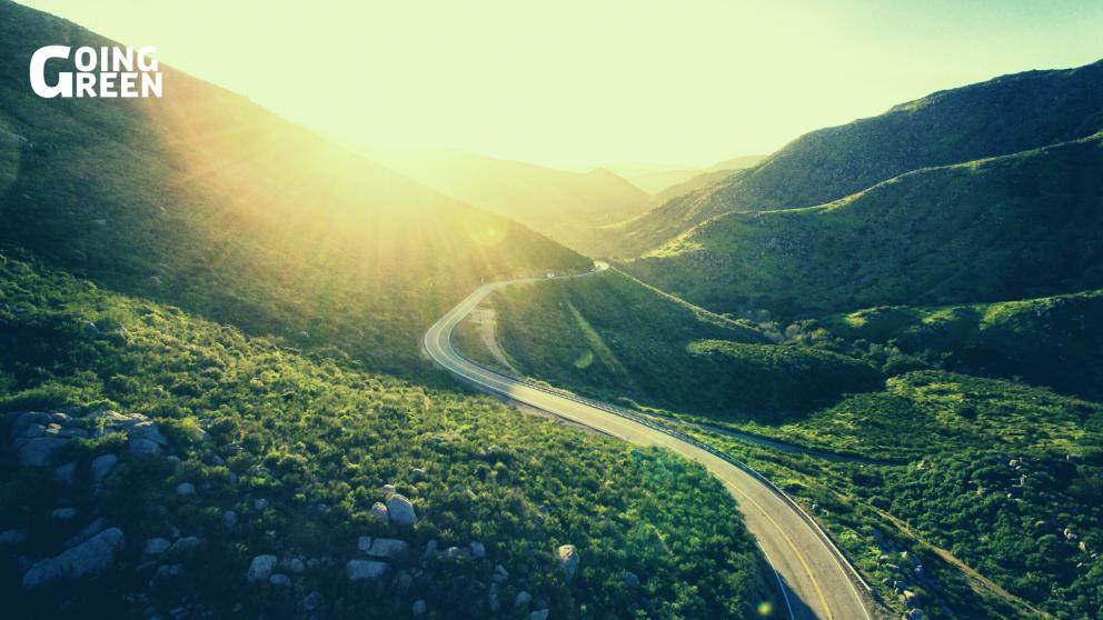 Green road in california